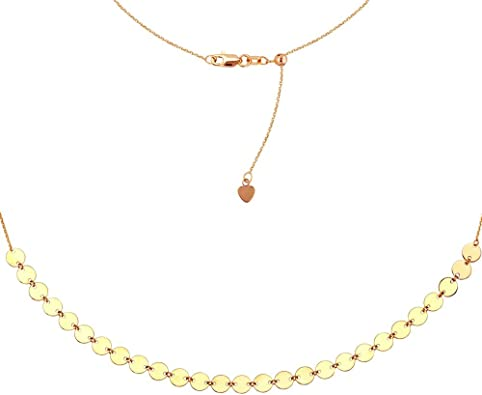 White Gold and Rose Gold Dangling Hearts Pendant 14K Yellow Gold