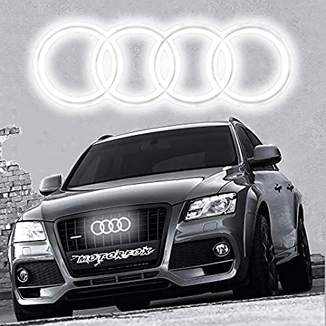 Genuine Audi Q7 Q5 Q3 A7 A6 Front Grille Rings Emblem Badge 4H0853605B2ZZ