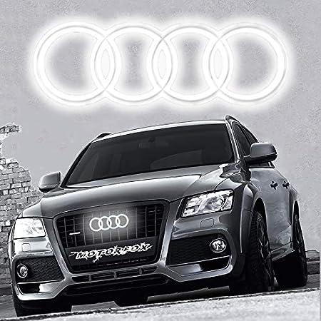 Led Emblema Logo Parrilla delantera iluminada con luz brillante insignia Q2 Q3 Q5 Q7 A6 A7