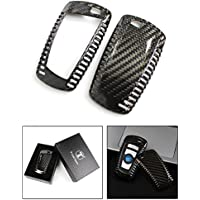 LUXURY CARBON FIBER KEY PROTECTIVE HARD CASE COVER FOR BMW KEYLESS ENTRY SMART FOB