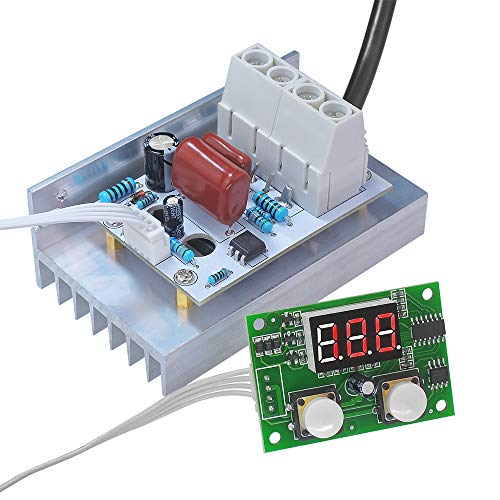 uniquegoods AC 220V 80A 10000W High Power Digital SCR PWM Motor Speed Controller Voltage Regulator Dimming Control Attemperation Thermoregulation