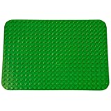 "Premium Dark Green Base Plate - 15"" x 10.5"" Baseplate (LEGO® DUPLO® Compatible) - Large Pegs Only"
