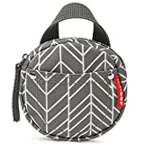 Skip Hop Grab-and-Go Pacifier Pocket, Grey Feather (New)