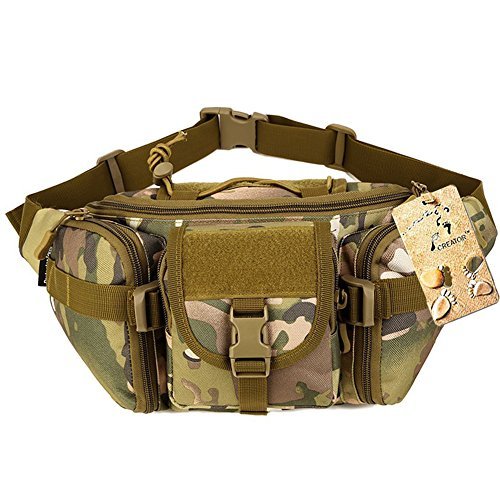 Waterproof outdoor camping hiking bag Tactical Waist Bag CP - 4