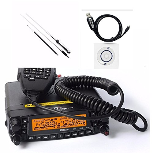 Band Ham (1704A Newest Updated Version TYT TH-9800 Quad Band Transceiver 10M/6M/2M/70cm Two Way Amateur Radio with HH9000 Antenna & Programming Cable with CD(For Win OS only)