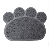 weather ch - CH Pet PVC Foot Mat Paw Shape Rugs for Dogs Cats (Gray)