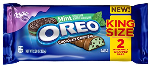 Oreo Mint Chocolate King Size Candy Bar - 2.88 Ounce (Pack of 24) - Mint Candy Bars