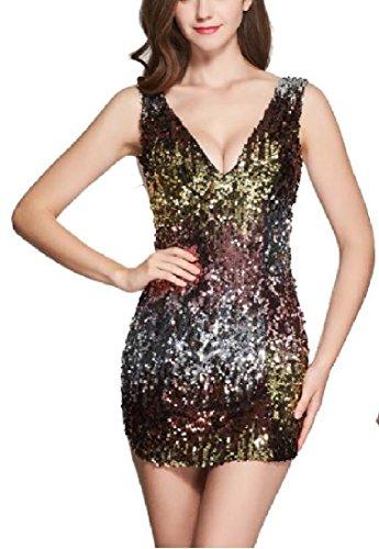 White Short Spaghetti Womens Girls Dress Strap Fashion Sequins Backless Comfy 6PqRzF