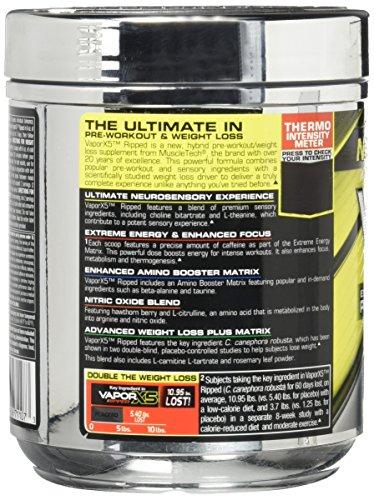 MuscleTech Performance Series VaporX5 Ripped Supplement, Strawberry Limeade, 184 Gram
