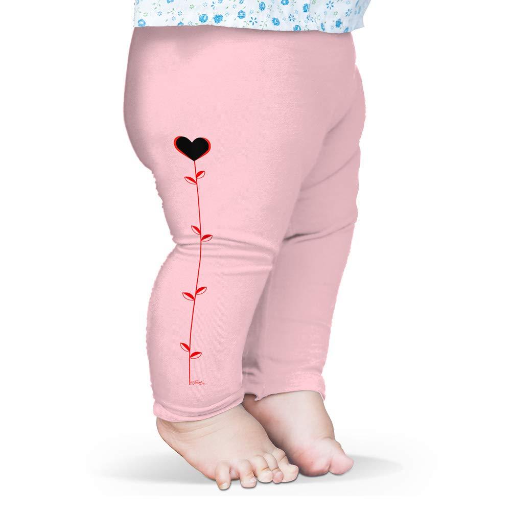 Twisted Envy Baby Leggings Red Stem Love Heart