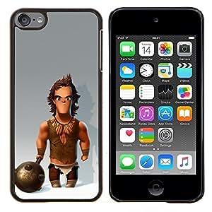 Eason Shop / Premium SLIM PC / Aliminium Casa Carcasa Funda Case Bandera Cover - Músculos Caveman Club de Nieve - For Apple iPod Touch 6 6th Touch6