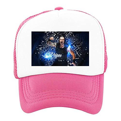 Kids Girls Boys Mesh Cap Trucker Hats Roman Reigns Adjustable Hat Pink