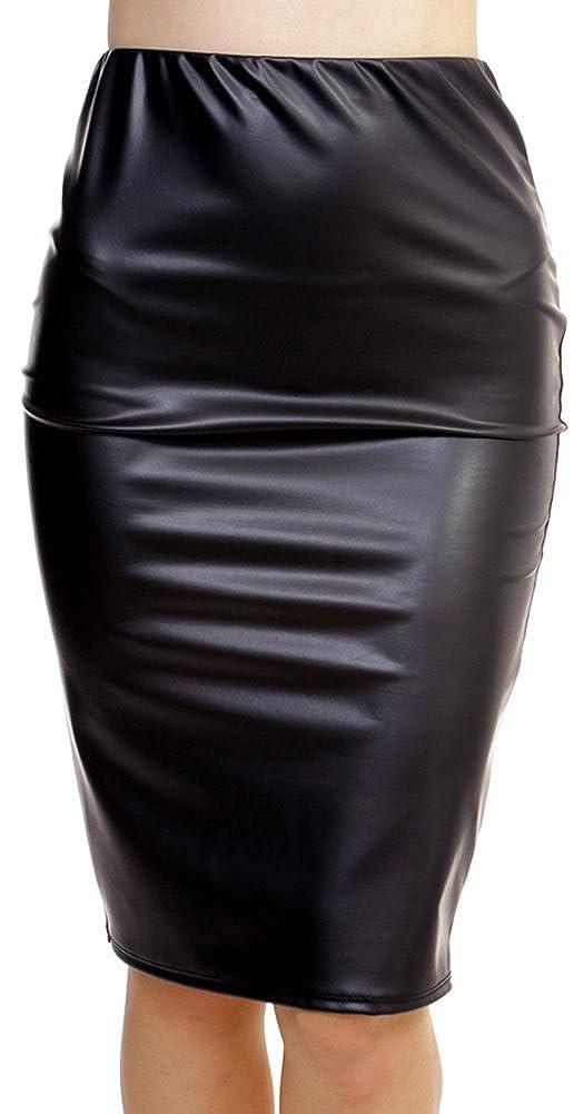 ToBeInStyle Womens PU Pencil Skirt