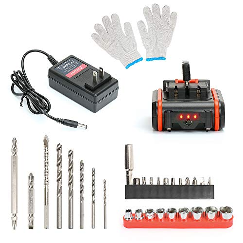 TOKUYI 12V 1.5Ah Lithium-ion Cordless Drill//Driver//Screwdriver,3//8-inch Keyless Chuck 17+1 Torque Setting with Led Light,and 1 Hour Fast Charger,29Pcs Accessories