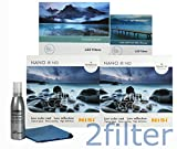 Lee Filters and NiSi Filters Long Exposure Kit Includes - Lee FK Holder, Lee 77mm Wide Angle Adapter Ring, NiSi Filters Glass 4x4 Multi-Coated IR ND 6 Stop & 10 Stop Filters with 2filter cleaning kit!