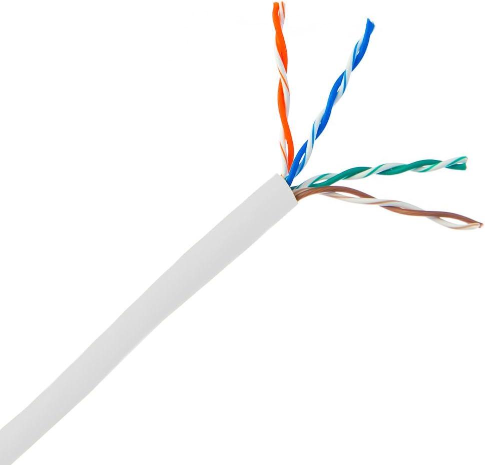 White 1pk Pullbox Stranded ACCL 1000ft Cat5e UTP Ethernet Cable