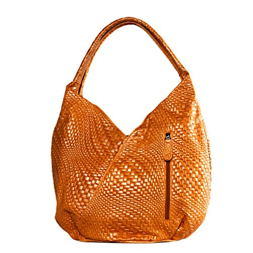 Modèle En Destock Femme À Nouvelle Collection Tressé Cuir Main Sac Mandalay Orange 0dwZXq