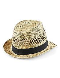 Beechfield Straw Summer Trilby - 2 Sizes