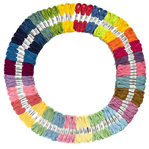 Embroidery Thread Unicorn Color Palettes – Friendship Bracelet String – 100 Embroidery Floss Coded as Embroidery Thread Numbers – Cross Stitch, Thread or String Craft – Best Bracelets String Set