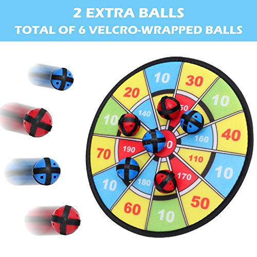 Velcro Dart Board Game with 6 Balls | 11.8 Inches (30 cm) Diameter | Classic Game and Safe for Kids by BETTERLINE