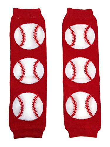 Rush Dance All Time Sports Playball Baby/ Toddler Leg Warmers (One Size, Red Baseball)
