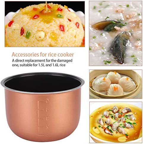 Heat Resistant Non-Stick Inner Cooking Pot Liner Container Replacement Accessories for 1.5L 1.6L Rice Cooker