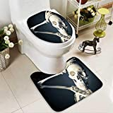 aolankaili Large Contour Mat medical skeleton model with dramatic light Non-Slip Microfiber Bathroom mat with Anti Skid