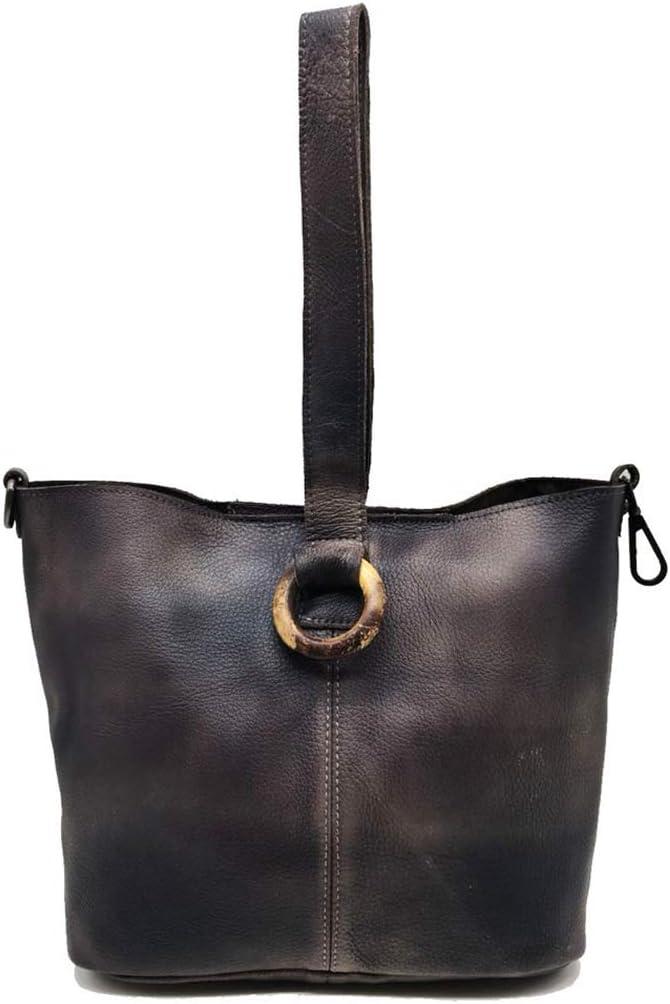 LXLX-bag Bolso de Mujer Bandolera portátil de Cuero Bolso de Cuero Retro brown