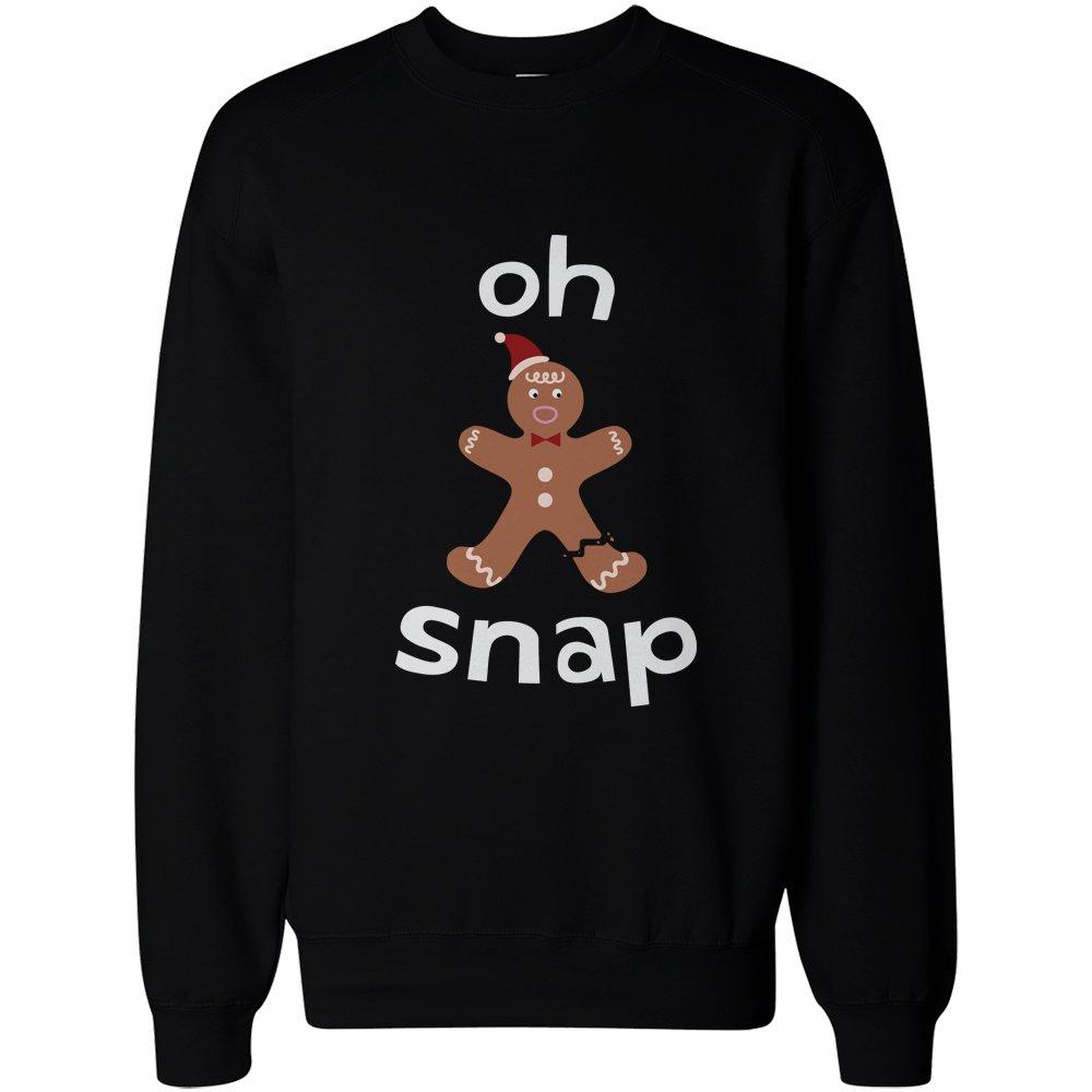 Oh Snap Gingerbread Cookie Man with Broken Leg Funny X-Mas Unisex Sweatshirt 365 Printing Inc JSS032