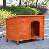 LAZYMOON X-Large Dog House Pet Shelter Home Outdoor Ground Wood Kennel Cabin