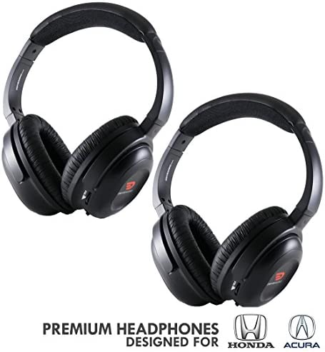 Wireless Headphones 2 Pack for Honda Acura by DriveAudio – Odyssey, CR-V, Accord, Pilot, Ridgeline, RDX, MDX