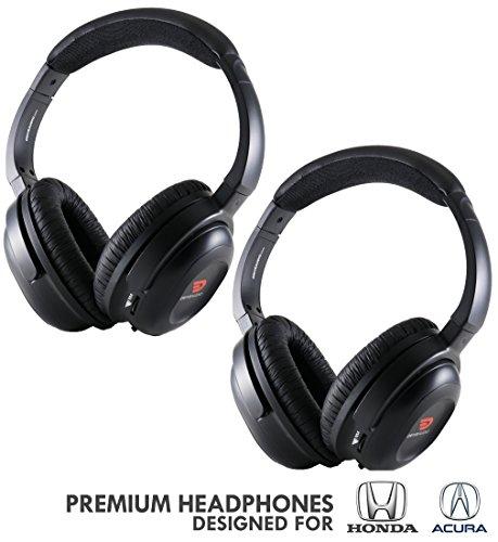 DRIVE AUDIO Wireless Headphones (2 Pack) for Honda & Acura by DriveAudio - Odyssey, CR-V, Accord, Pilot, Ridgeline, RDX, MDX ()