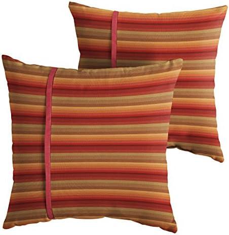 Mozaic Company AMPS112200 Indoor Outdoor Sunbrella Square Pillow