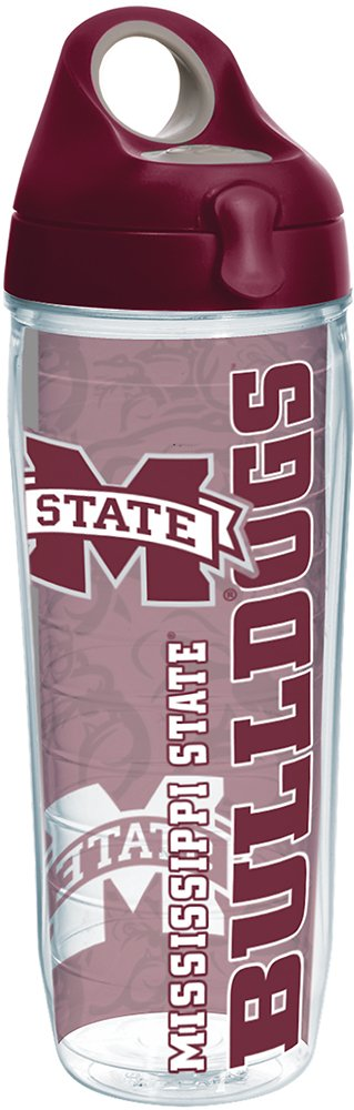 Tervis 1220461 Mississippi State Bulldogs College Pride Tumbler with Wrap and Maroon Lid 24oz Water Bottle, Clear