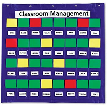 Amazon com classroom management behavior pocket chart