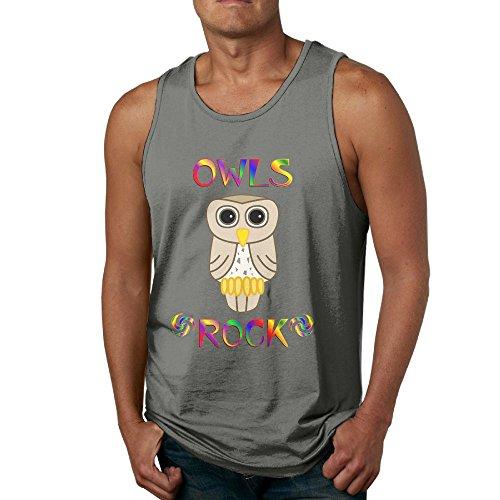 Newfood Ss Owls Rock Men's ComfortSoft Tank Top T-Shirt 3X -