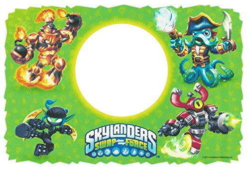 Skylanders Swap Force Wash Buckler Magna Charge Green Background Edible Cake Topper Image ABPID05505 - 1/4 sheet -