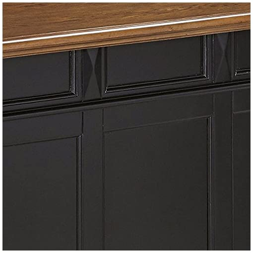 Home Bar Cabinetry homestyles Americana Black Bar with Wood Top home bar cabinetry