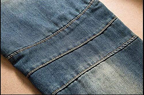 Cher Straight Cotone Moda Classici Coltivazione Alla Jeans Blau Self Ragazzi Da Classiche In Uomo Ssig Classic service qtOO0X