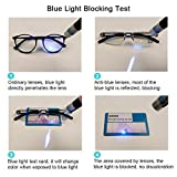 DOOViC 5 Pack Anti Blue Light Reading Glasses One-Piece Design Readers Blue Blocking Computer Glasses UV Protection Unisex (Men/Women) +2.00