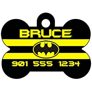 Batman Personalized Dog Tag Pet Id Tag w/ Your Pet's Name & Number