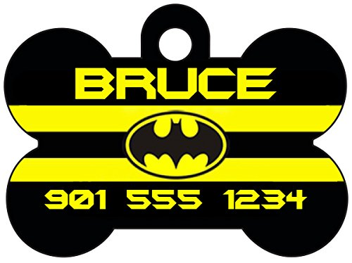 Batman Personalized Dog Tag Pet Id Tag w/ Your Pet's Name & -