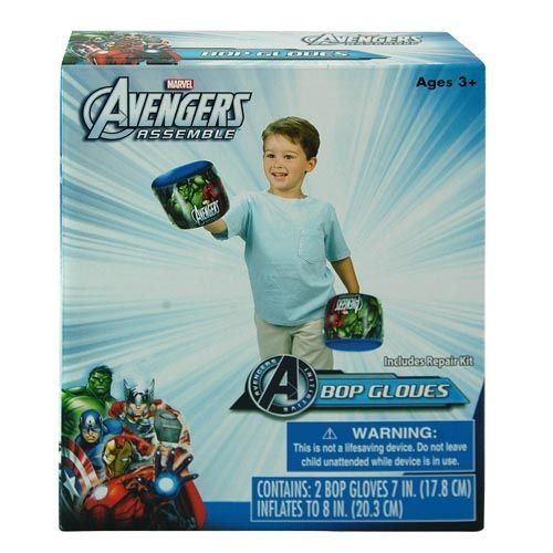 WeGlow International Marvel Avengers Inflatable Bop Gloves, Set of 2