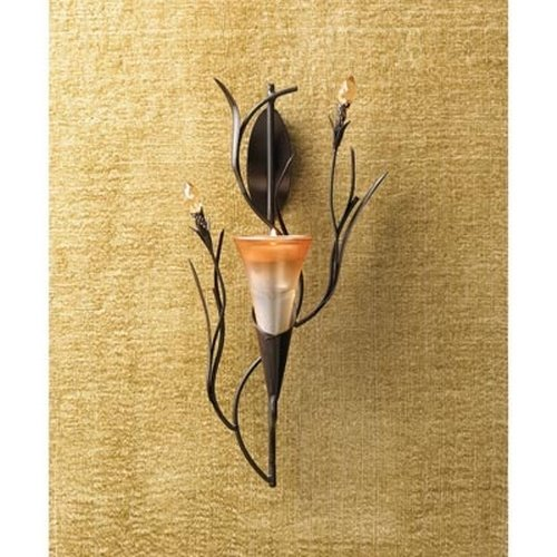 Gifts & Decor Dawn Lily Candle Holder Home Accent Decor Wall Sconce