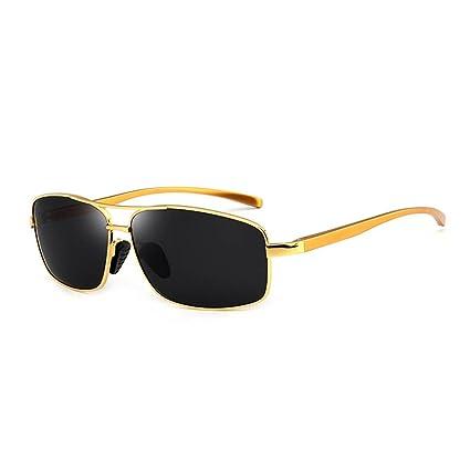 RPFU Gafas De Sol De Conducción Y Caminadas Cuadradas Polarizadas De Aluminio Y Magnesio para Hombres