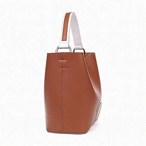 Brown A Nero Colore Tracolla In Pelle Larga Gaoyang Borsa Vintage Mano Vera Secchiello HB7qngxpU