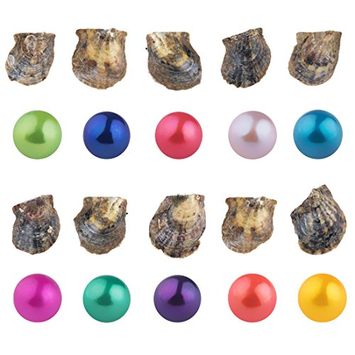 SEASAN Saltwater Akoya Oysters with Pearls Inside 10 PC (7-8mm)