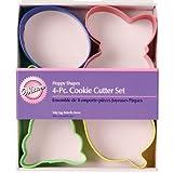 Wilton Hoppy Shapes 4pc Color Cookie Cutter Set