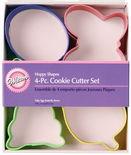 (Wilton Hoppy Shapes 4-Piece Easter Cookie Cutter Set)