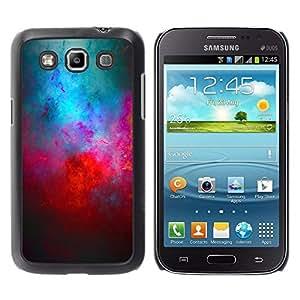 Caucho caso de Shell duro de la cubierta de accesorios de protección BY RAYDREAMMM - Samsung Galaxy Win I8550 I8552 Grand Quattro - Universe Cosmos Red Blue Galaxy Modern Art